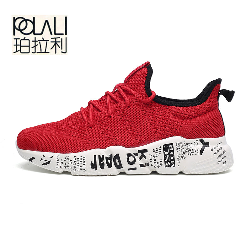 50d6c576e4d POLALI Woven Men Casual Shoes Breathable Male Shoes Tenis Masculino Shoes  Zapatos Hombre Sapatos Outdoor Shoes