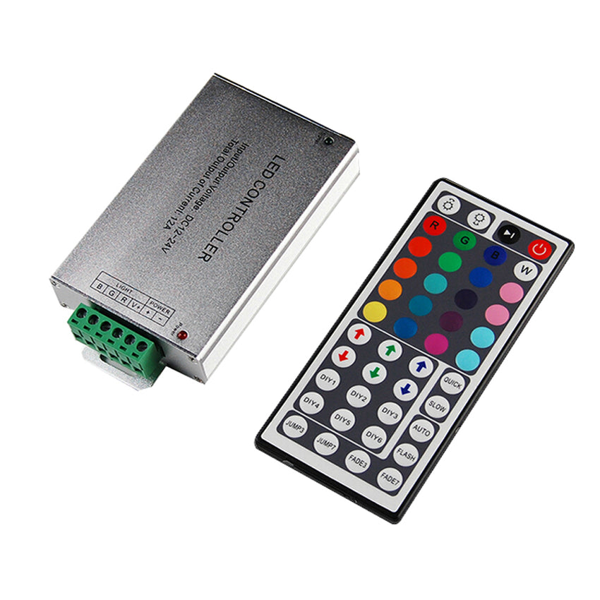 Rgb Controlers 100pcs Mini Dc12v 44 Keys Wireless Led Rgb Controller With Ir Remoter Control For Smd 3528 5050 Rgb Led Strip Wholesale Lighting Accessories