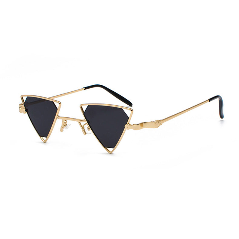 24d1ecd83f9 ROYAL GIRL Vintage Punk Triangle Sunglasses Women Men Metal Frame Black Red  Yellow Pink Sun Glasses