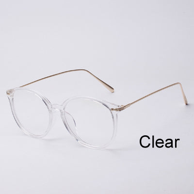 685e5f28347 Ralferty Transparent Glasses Frame With Clear Lens Oversized Oval Eyeglasses  Women Gold Myopia Optical Frames Spectacles