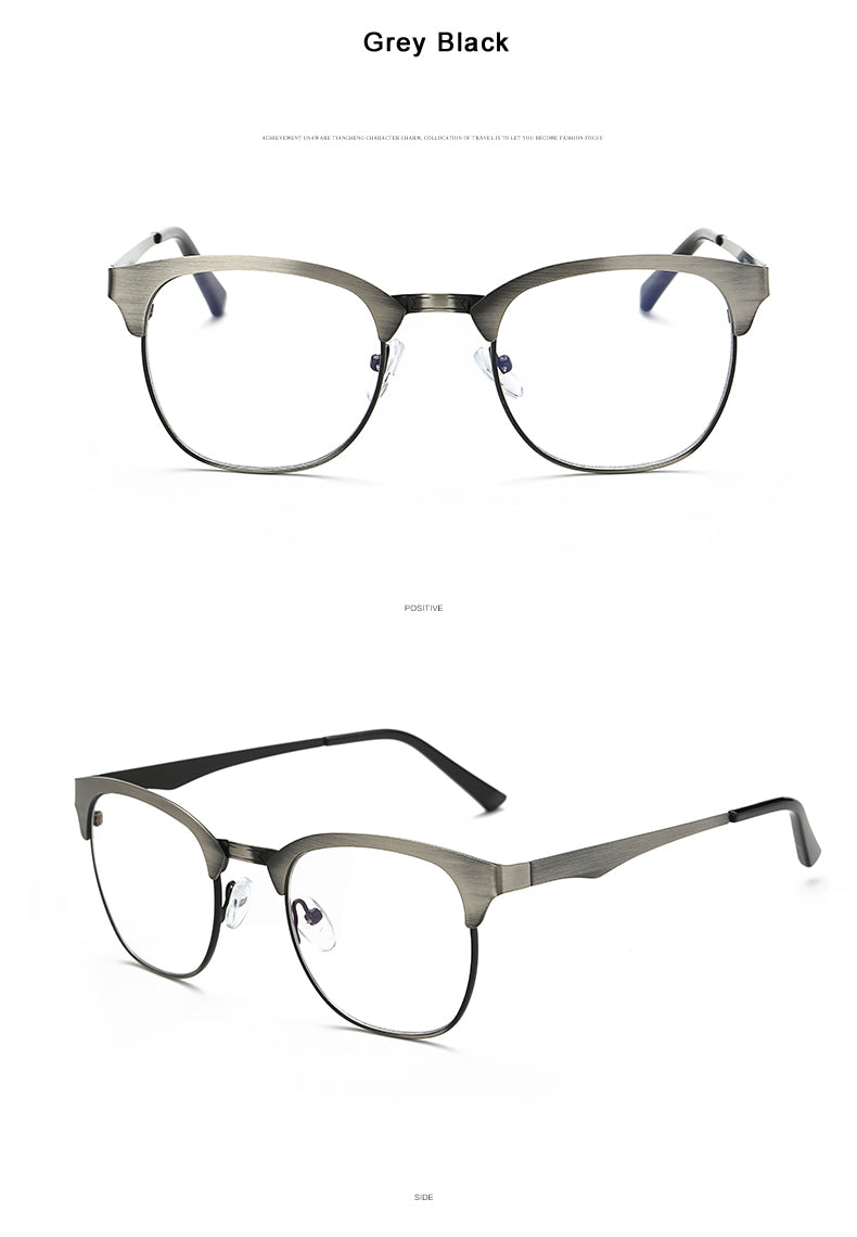 18b9e9366b88 VCKA 2018 Vintage Men Optical Metal Frame Eyewear Prescription Eyeglasses  Frames Clear Lens Optical Glasses Spectacle