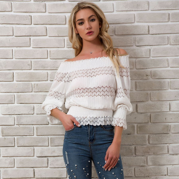 54fb671cc48 ... 2018 Sping Summer New Arrivals Fashion Off Shoulder Tops Ladies Long Sleeve  Streetwear Blouse Womens. Rs. 1