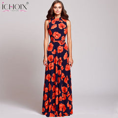 b1feb1839d7 Women Vintage Evening Party long Dress Summer Plus Size Floral Print Maxi  Dresses New Fashion Boho
