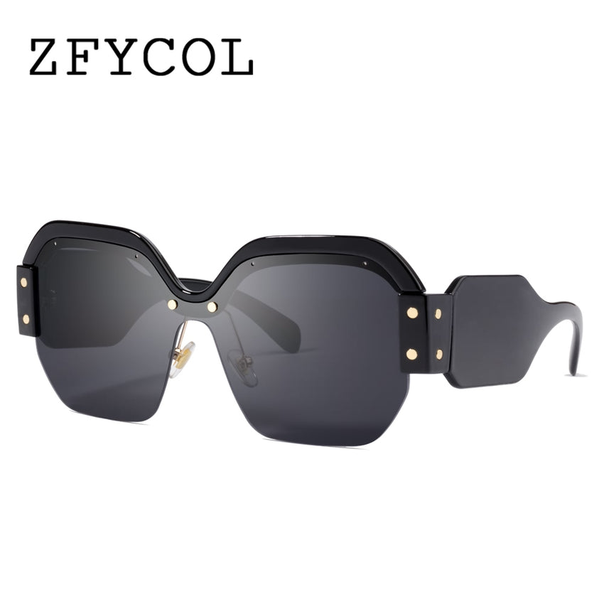 1fad305ff5 ZFYCOL 2018 Sunglasses Women Luxury Square Big Frame Fashion Brand Designer  Female Polygon Integrated Pink Sun