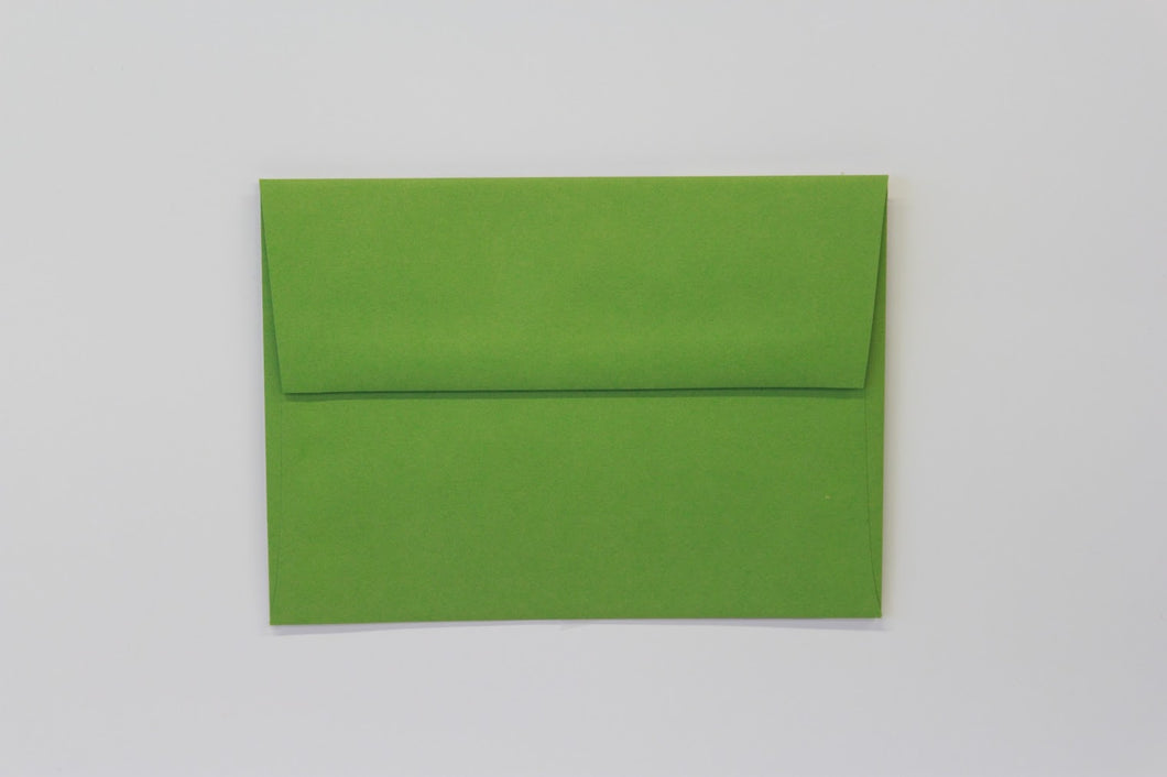 A7 Gumdrop Green Envelopes