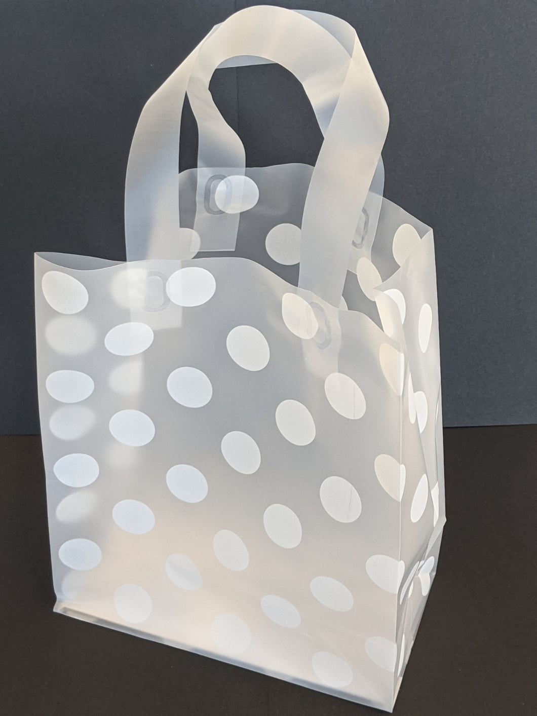 Frosted White Dot Gift Bag CUB