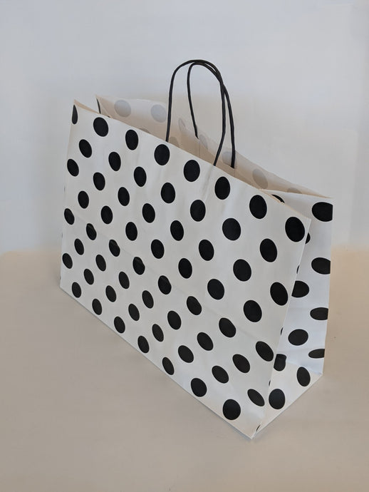Black White Dots Gift Bag Vogue