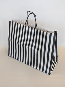 Black Stripe Gift Bag Vogue