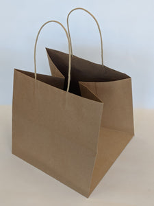 Wide Kraft Takeout Gift Bag