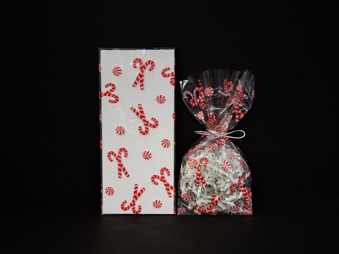 C4 Christmas Mint Cello Bags