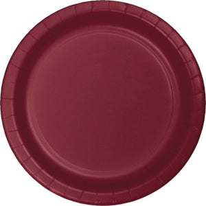 "Burgundy 7"" Paper Plate"