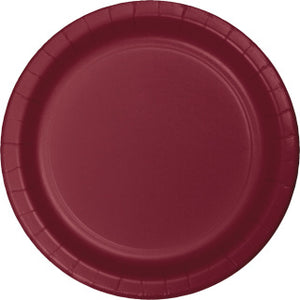 "Burgundy 9"" Paper Plate"