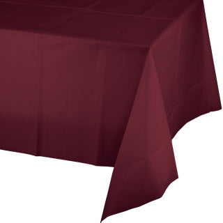 Burgundy Plastic Tablecover 54