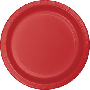 "Classic Red 7"" Paper Plate"