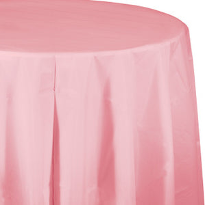 Classic Pink Round Tablecover 82""
