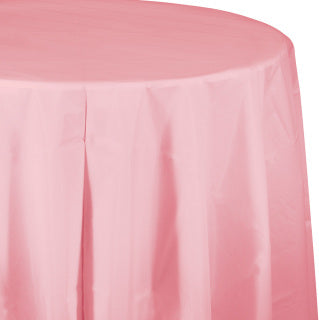Classic Pink Round Tablecover 82