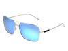 Sixty One Teewah Polarized Sunglasses - Silver/Celeste