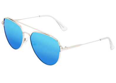 Sixty One Nudge Polarized Sunglasses - Silver/Blue