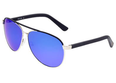 Sixty One Wreck Polarized Sunglasses - Silver/Blue