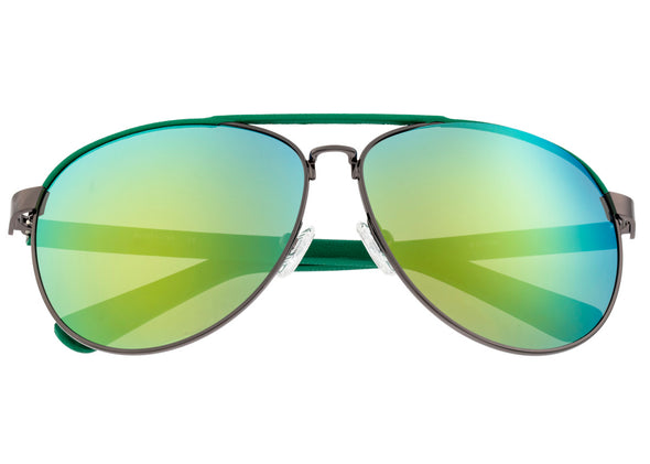 Sixty One Wreck Polarized Sunglasses - Gunmetal/Green