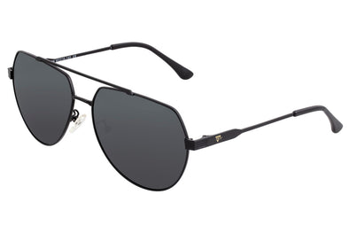 Sixty One Costa Polarized Sunglasses - Black/Black