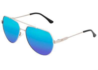 Sixty One Costa Polarized Sunglasses - Silver/Blue-Green
