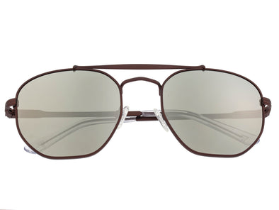 Sixty One Stockton Polarized Sunglasses - Brown/Silver