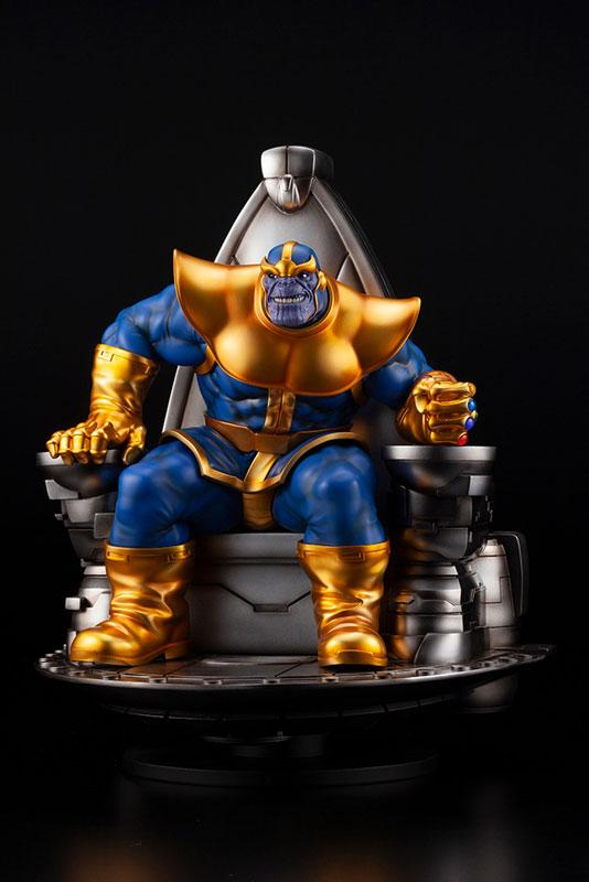 Kotobukiya Fine Art Statue Marvel Universe - The Avengers - Thanos On Space Throne Preventa