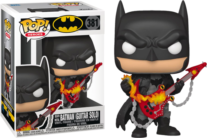 Funko Pop Heroes: DC Dark Knights - Death Metal Batman con Guitarra Exclusivo Preventa