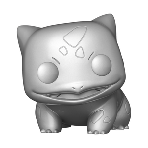 Funko Pop Games: Pokemon - Bulbasaur Plateado Metalico