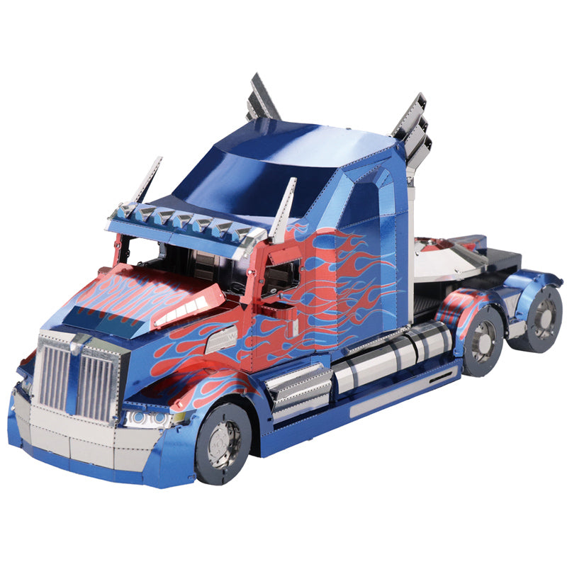 MU 3D Metal Model Kits Transformers - Optimus Prime Truck