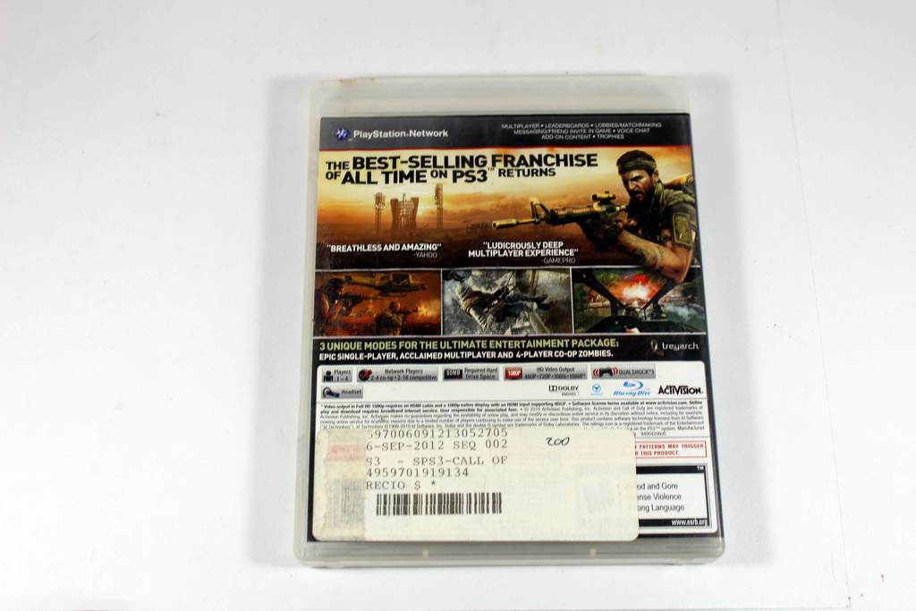 Playstation 3 Call Of Duty Black Ops