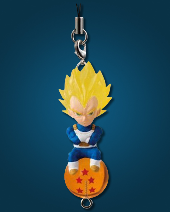 Akihabaratoys Coleccionable LLAVERO DRAGON BALL MASCOT - SUPER SAIYAN VEGETA
