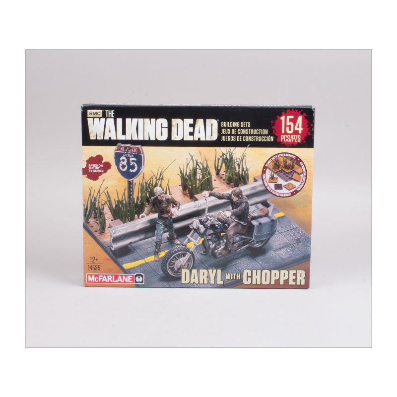 Akihabaratoys Coleccionable MCFARLANE TWD BUILD SET DARYL WITH CHOPPER