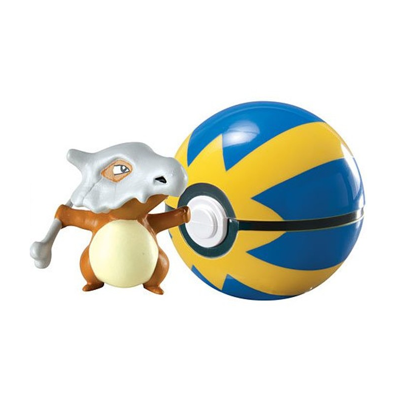 Akihabaratoys Coleccionable TOMY POKEMON CLIP AND CARRY CUBONE QUICK BALL