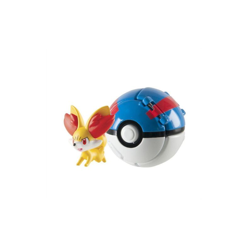 Akihabaratoys Coleccionable TOMY POKEMON THROW AND POP FENNEKIN GREAT BALL