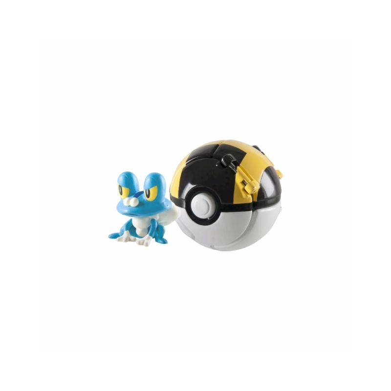Akihabaratoys Coleccionable TOMY POKEMON THROW AND POP FROAKIE ULTRA BALL