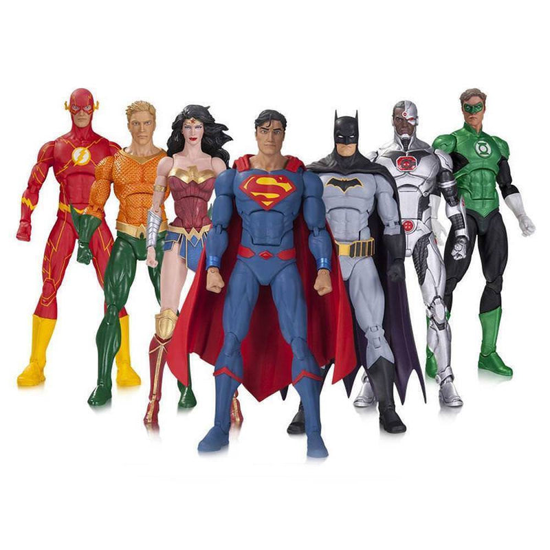 Akihabaratoys Figura Articulada DC Collectibles DC Rebirth Justice League 7PK Batman Superman