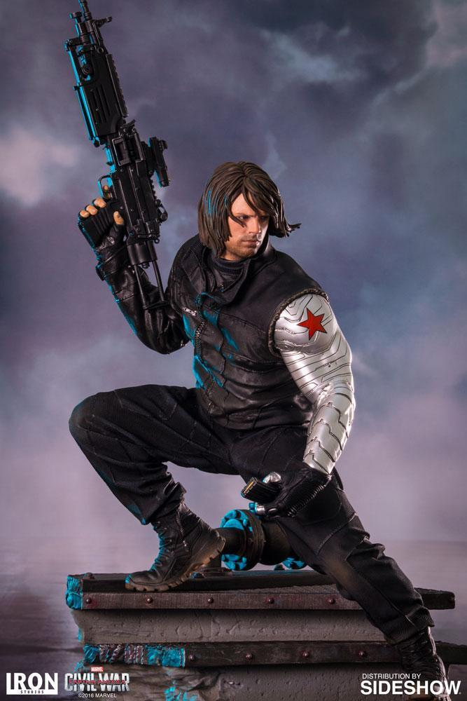 Akihabaratoys Figura Estatica Iron Studios Winter Soldier Legacy Replica 1/4