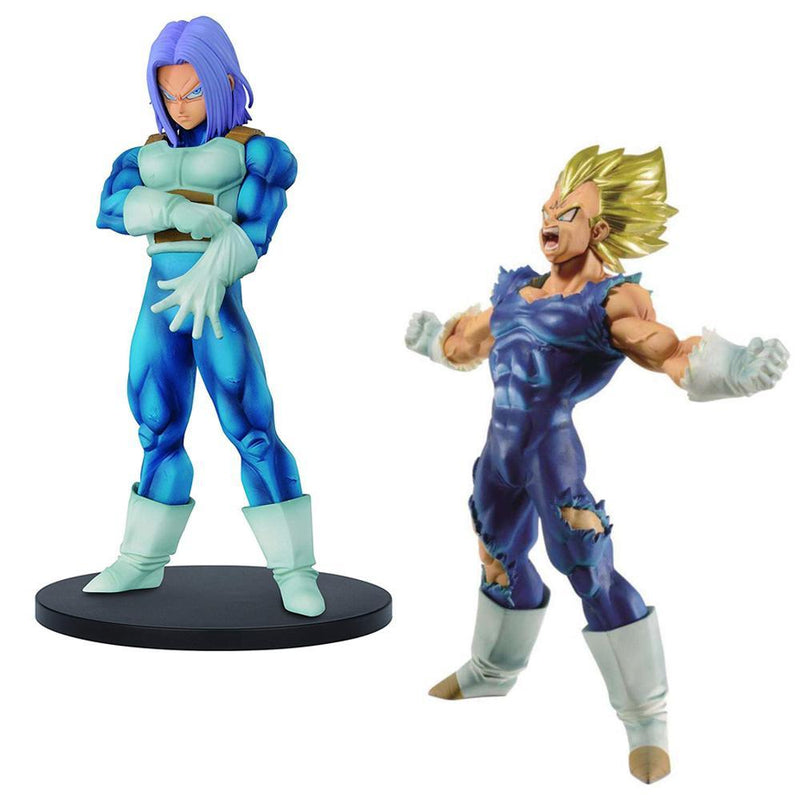 Akihabaratoys Figura Estatica PACK BLOOD OF SAIYAN VEGETA & RESOLUTION OF SOLDIER TRUNKS