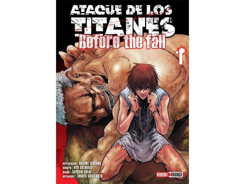 Akihabaratoys Manga & Comics MANGA ATAQUE DE LOS TITANES BEFORE THE FALL #1