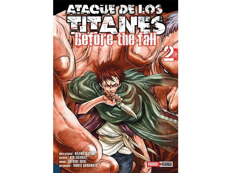 Akihabaratoys Manga & Comics MANGA ATAQUE DE LOS TITANES BEFORE THE FALL #2