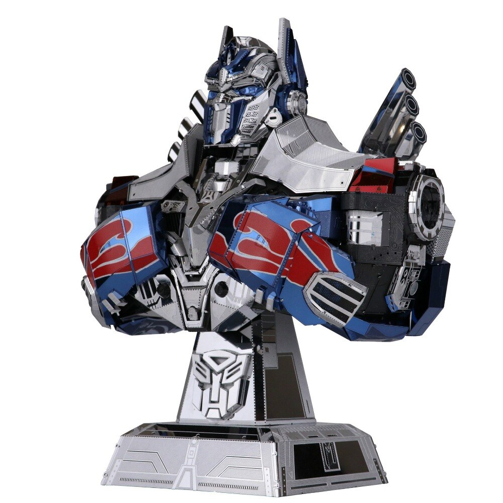 MU 3D Metal Model Kits Transformers - Optimus Prime Bust