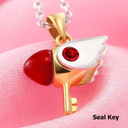 Cadena y Dije Sakura Card Captor Seal Key