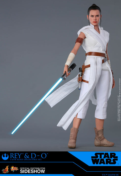 Sideshow Star Wars Hot Toys - Rey And D-O - preventa