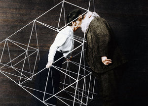 1903: Alexander Graham Bell kissing his wife in a tetrahedral kite