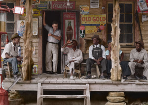 1939: Country store on dirt road. Sunday afternoon