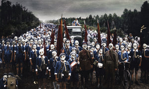 1937: Children's Pioneers defense drill, Leningrad