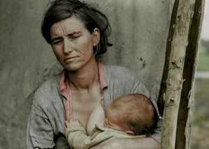 "1936: Florence Thompson with one of her children as part of the ""Migrant Mother"" series"