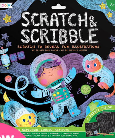 Large Scratch and Scribble Art Kit